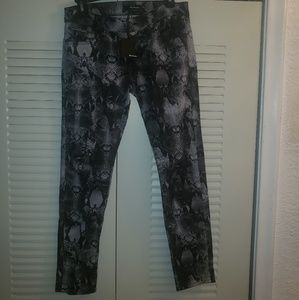 New Kooples Python Print Short Fit Jeans 28